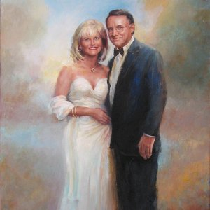 portrait painting of a man and a woman couple by Shane McDonald-Thumbnail Image