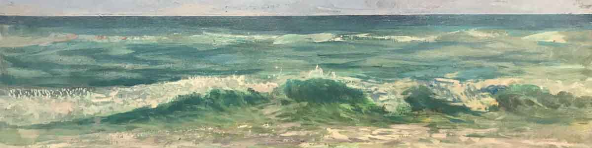 seawater waves and surf painted by Shane McDonald