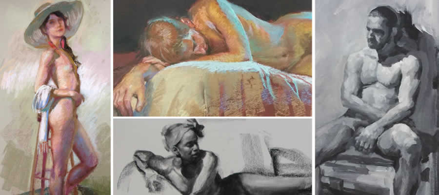 figure drawings and paintings by Shane McDonald