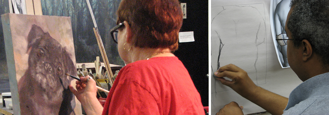 Painting and figure drawing classes at Shane McDonald Studios